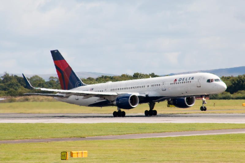 Delta Airlines Boeing 757 photo stock