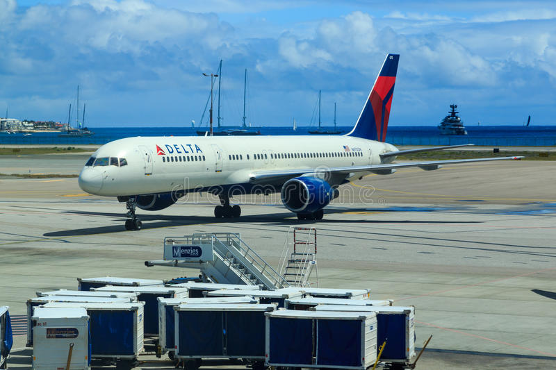 Delta Airlines Boeing 757 photographie stock