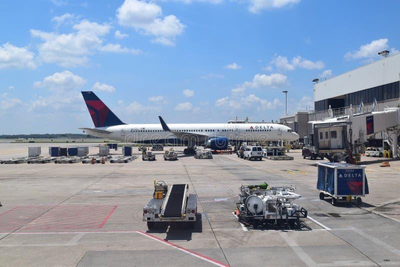 Delta Airlines em ATL imagem de stock