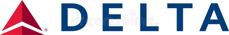 Delta Airlines logosymbol royaltyfri illustrationer