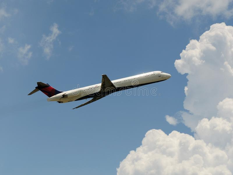 Delta Airlines Mcdonnell Douglas MD-88 lizenzfreie stockfotos