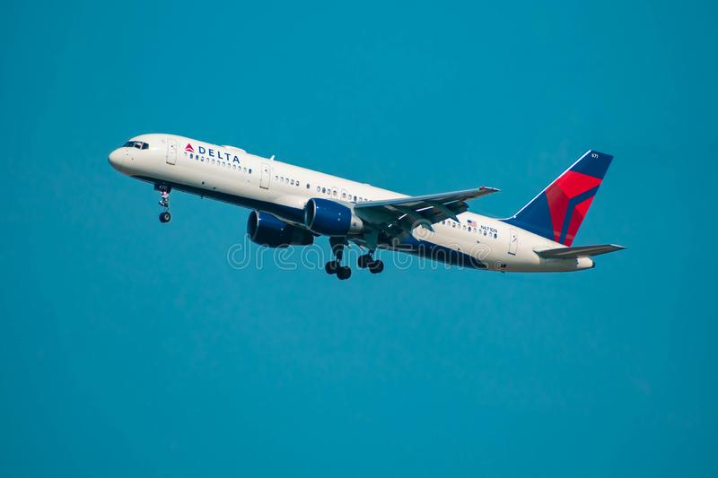 Delta Airlines partant d'Orlando International Airport 14 photo stock