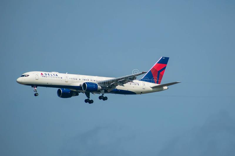 Delta Airlines partant d'Orlando International Airport 13 photographie stock