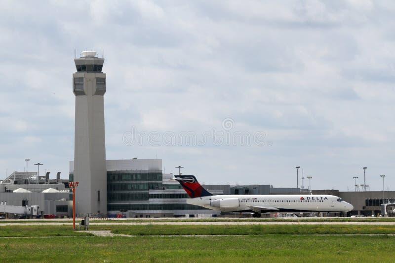 Delta Boeing 717-200 foto de stock royalty free