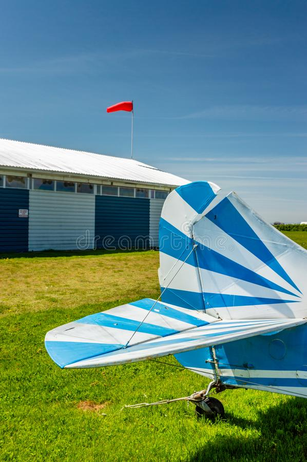 Delta, British Columbia - May 7, 2019: Side View Of Tail