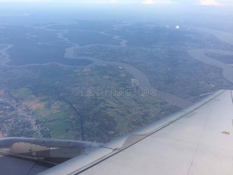 Delta de Mekong River, Vietname fotos de stock