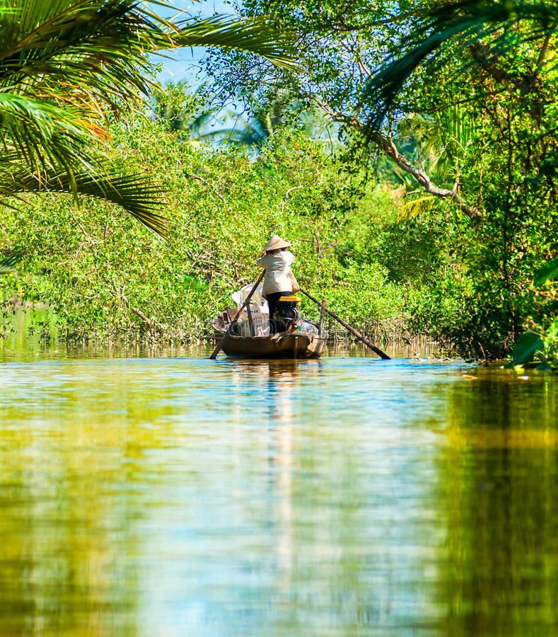 Delta del Mekong, Can Tho, Vietnam fotos de archivo