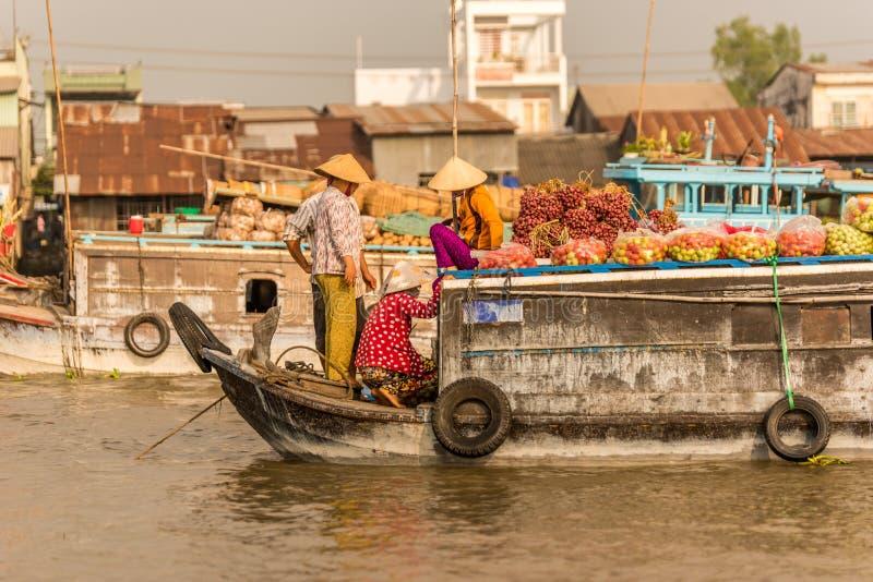 Delta del Mekong en Vietnam fotos de archivo