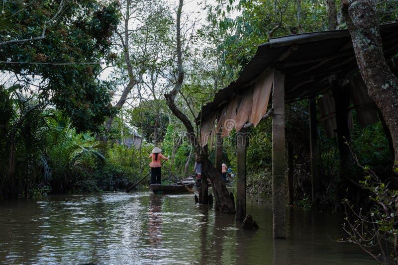Delta del Mekong, Vietnam, río fotos de archivo