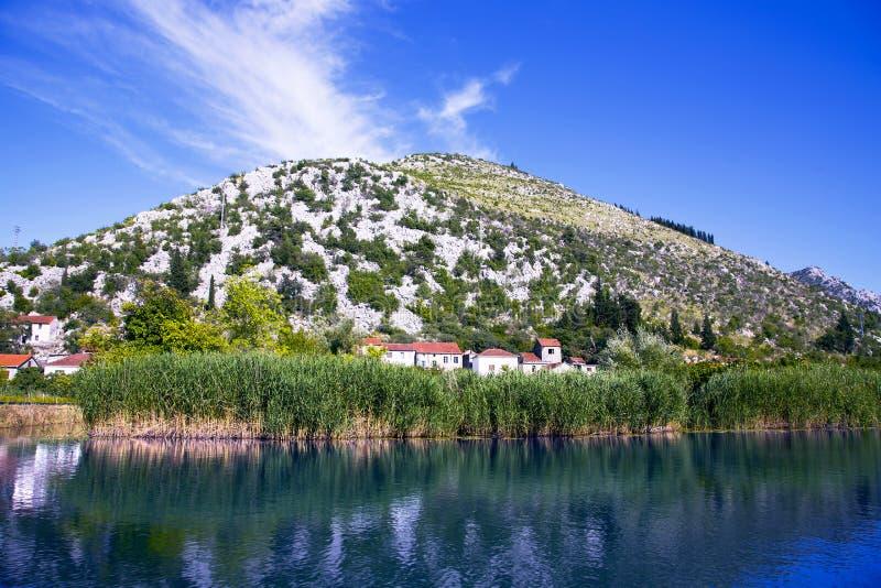 Delta del río de Neretva en Croacia imagenes de archivo