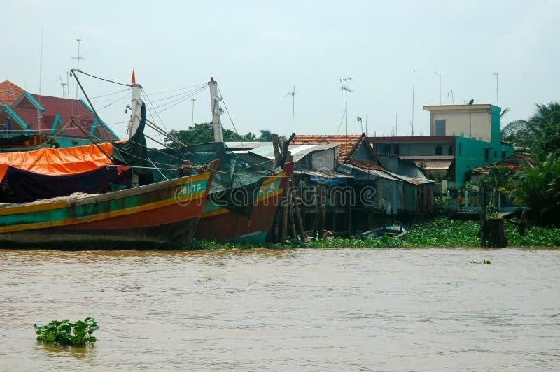 Delta du Mekong images stock
