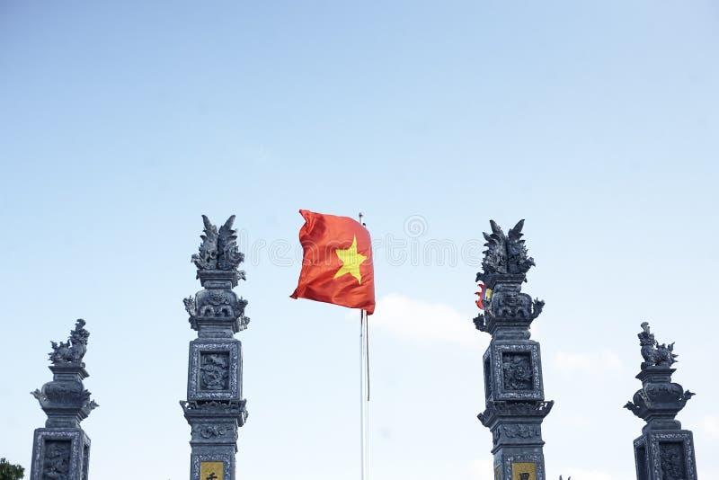 Delta du Vietnam, la rivi?re rouge Indicateur vietnamien photos stock