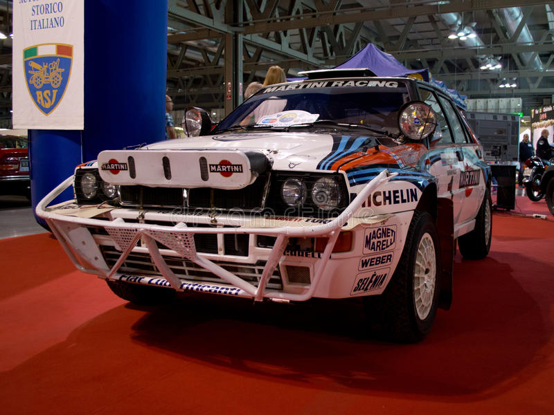 Delta Integrale Milano Autoclassica 2014 de Lancia imagenes de archivo