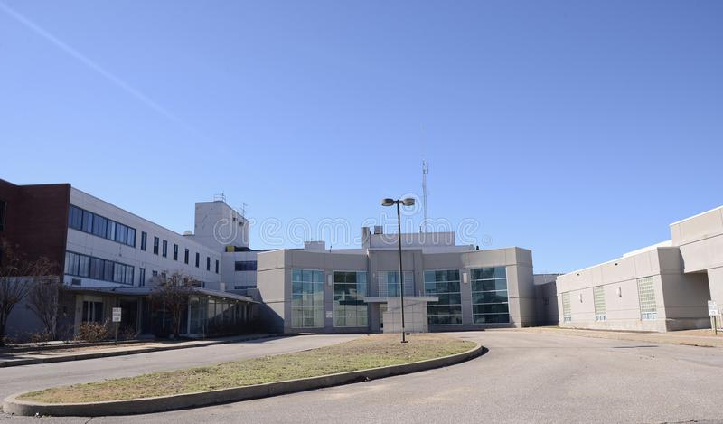 Delta-Kunst-Ausbildungszentrum-Rückseite, West-Memphis, Arkansas lizenzfreie stockfotografie