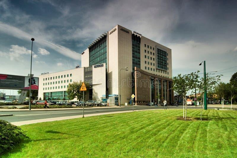 Delta Poznan Center imagem de stock royalty free