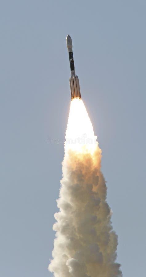 Delta raketlancering stock afbeeldingen