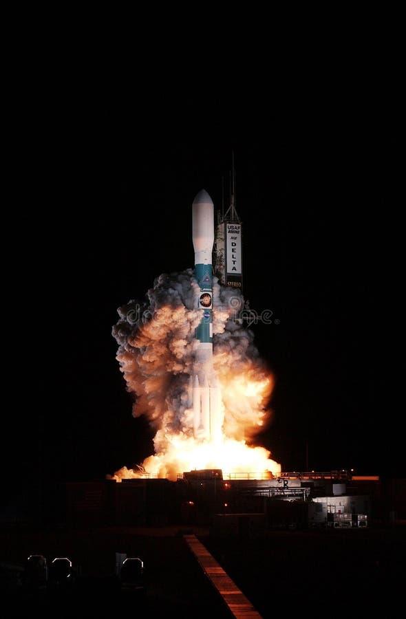 Delta Rocket Launch immagini stock libere da diritti