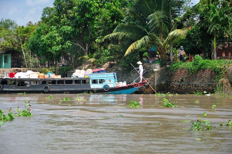 Delta Vietname de Mekong River foto de stock