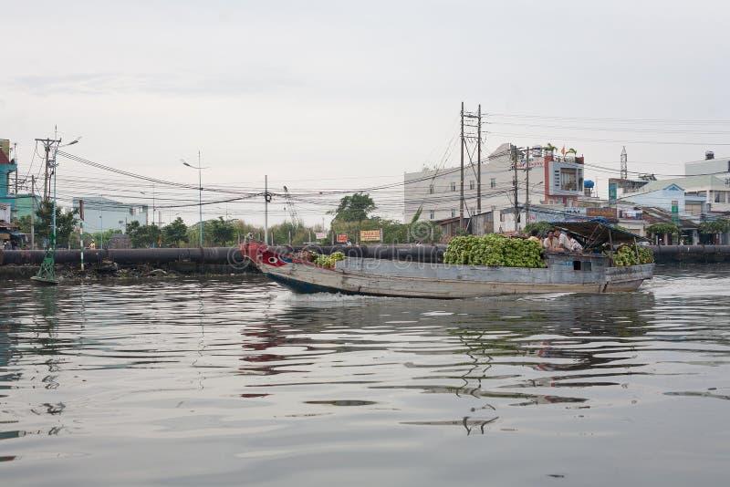 Delta Vietname de Mekong River imagem de stock royalty free