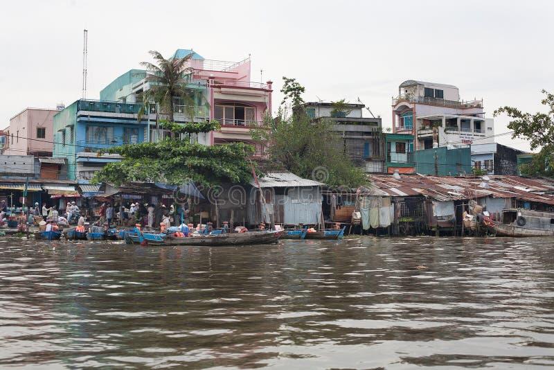 Delta Vietname de Mekong River imagens de stock