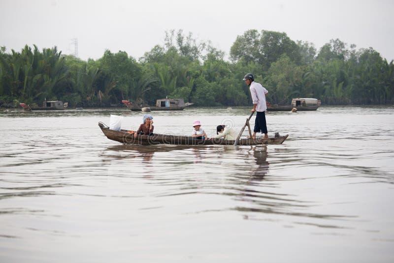 Delta Vietname de Mekong River fotos de stock