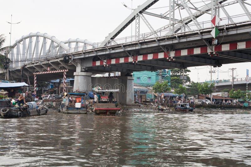 Delta Vietname de Mekong River fotografia de stock