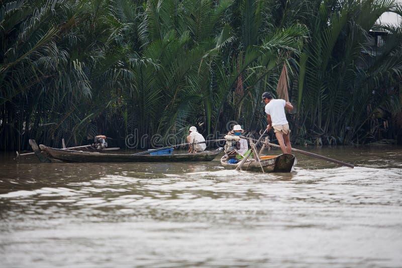 Delta Vietname de Mekong River imagens de stock royalty free