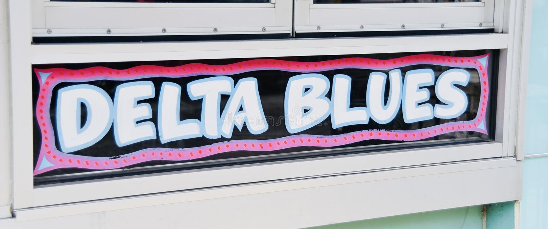 Deltablauwmuziek stock fotografie