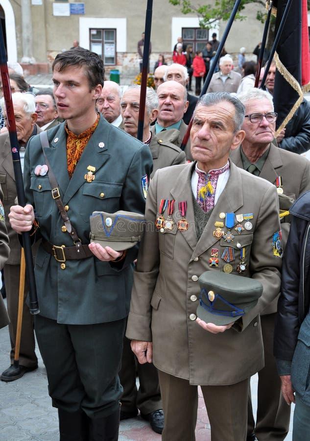 Deltagare av befrielseansträngningen av den ukrainska people_en royaltyfria bilder