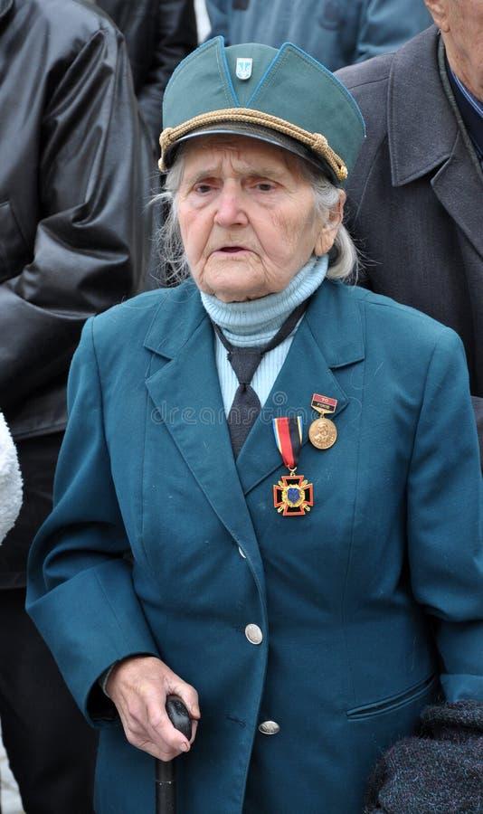 Deltagare av befrielseansträngningen av den ukrainska people_en royaltyfri fotografi