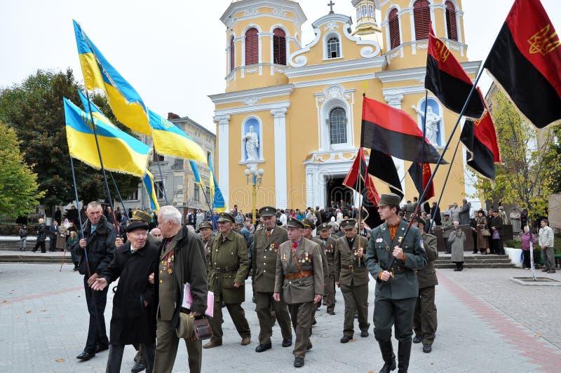 Deltagare av befrielseansträngningen av den ukrainska people_en royaltyfri bild