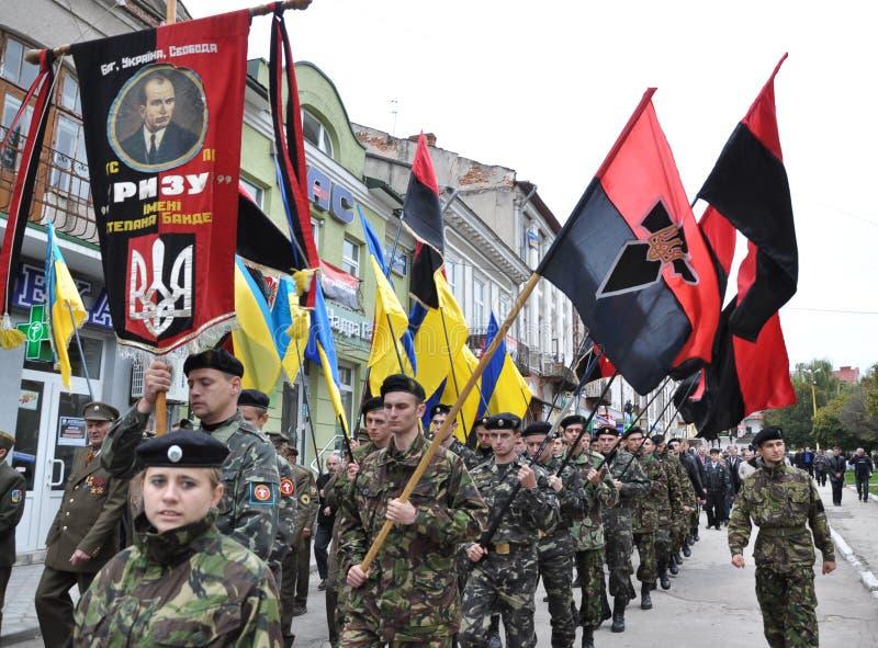 Deltagare av befrielseansträngningen av den ukrainska people_en arkivbild