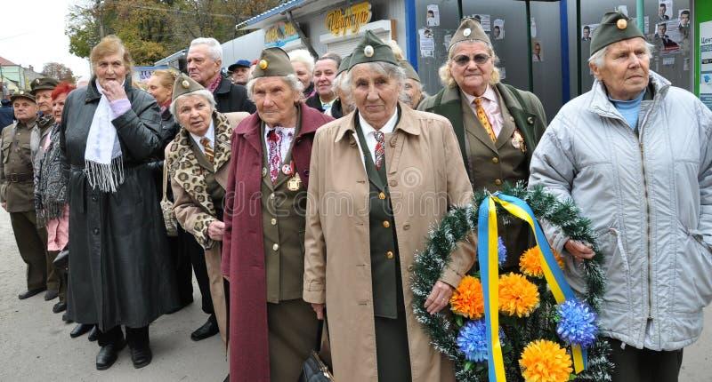 Deltagare av befrielseansträngningen av den ukrainska people_en arkivfoto