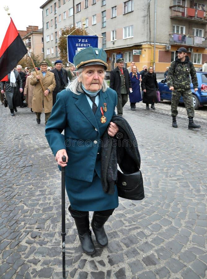 Deltagare av befrielseansträngningen av den ukrainska people_en royaltyfri foto