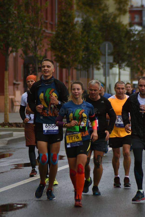 Deltagare av maraton för Moskva 6 royaltyfria foton