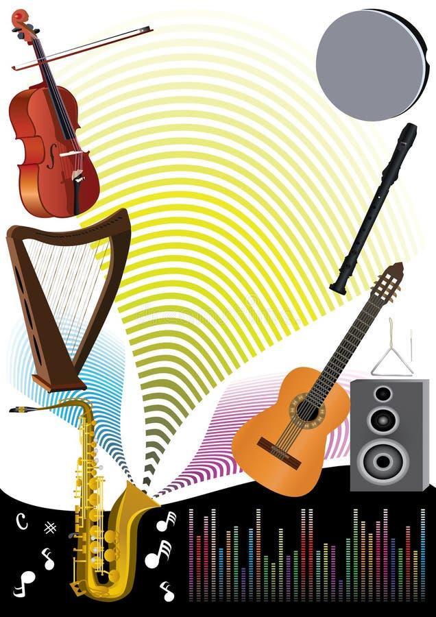 deltagare för bakgrundseps-musik royaltyfri illustrationer