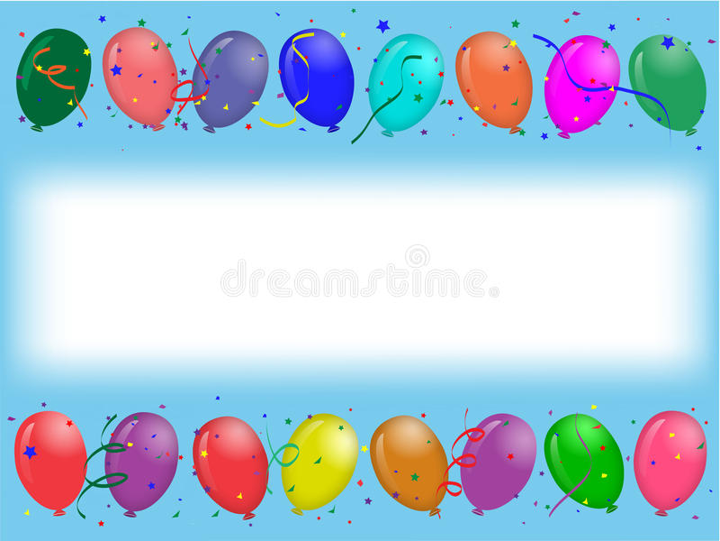deltagare för ballongkorthälsning vektor illustrationer