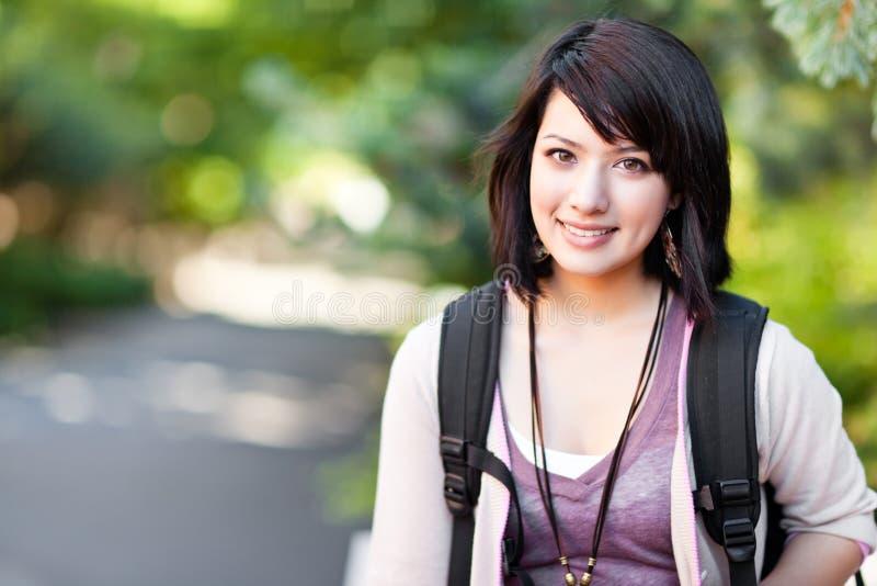 deltagare för blandad race för högskola royaltyfri fotografi