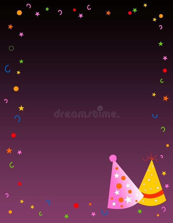 deltagare för födelsedaghälsningsinbjudan vektor illustrationer