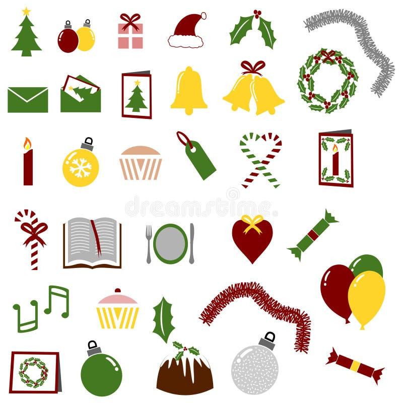 deltagare för julsymbolslott vektor illustrationer