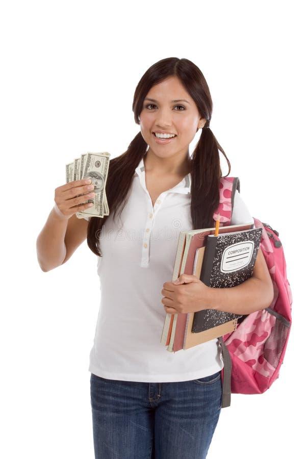 deltagare för lån för hjälpmedelkostnadsutbildning finansiell royaltyfri bild