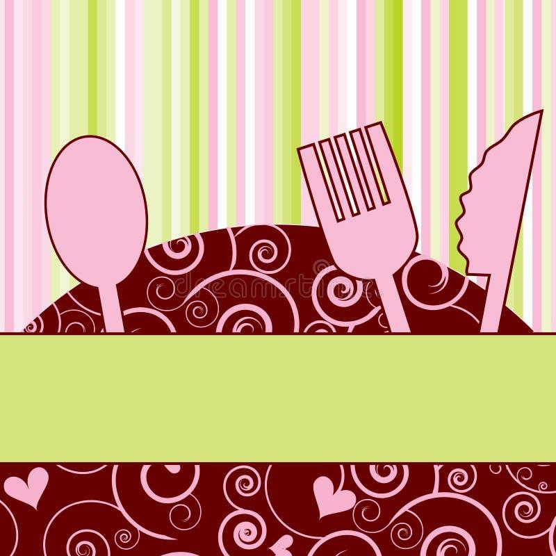 deltagare för matställeinbjudanmeny vektor illustrationer