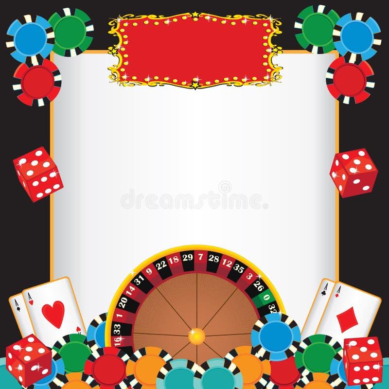 deltagare för natt för kasinohändelseinbjudan royaltyfri illustrationer