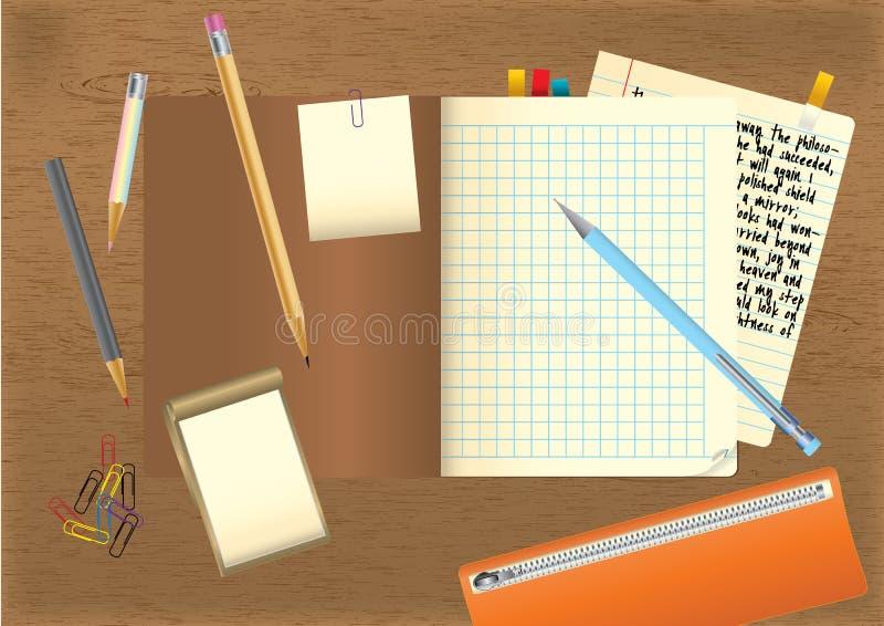 deltagare för skrivbord s vektor illustrationer