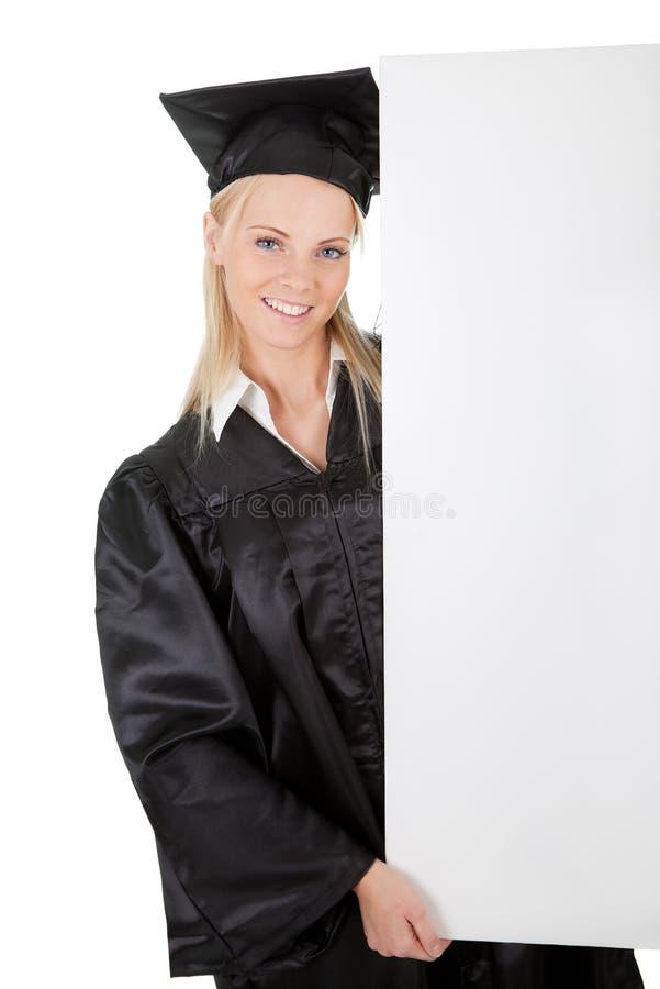 deltagare för tom kvinnlig för bräde doktorand- presenterande royaltyfri foto