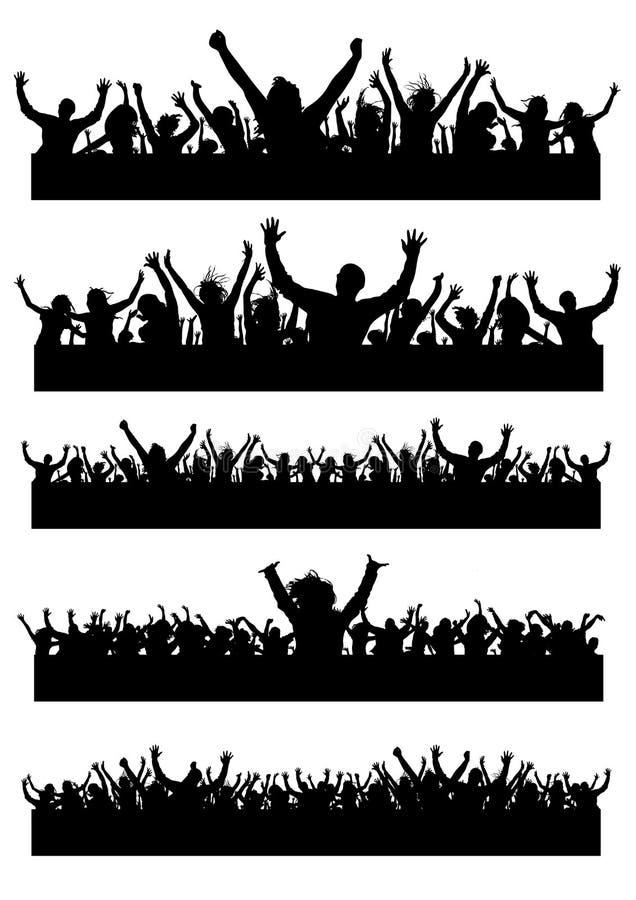 deltagarefolk royaltyfri illustrationer