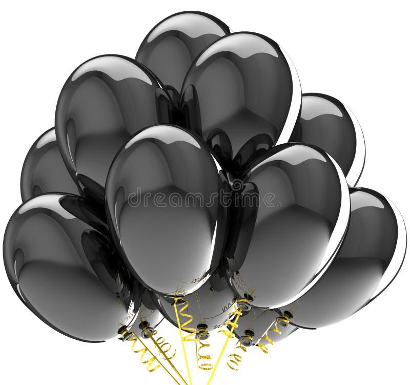 Deltagaren sväller färgrik black. royaltyfri illustrationer