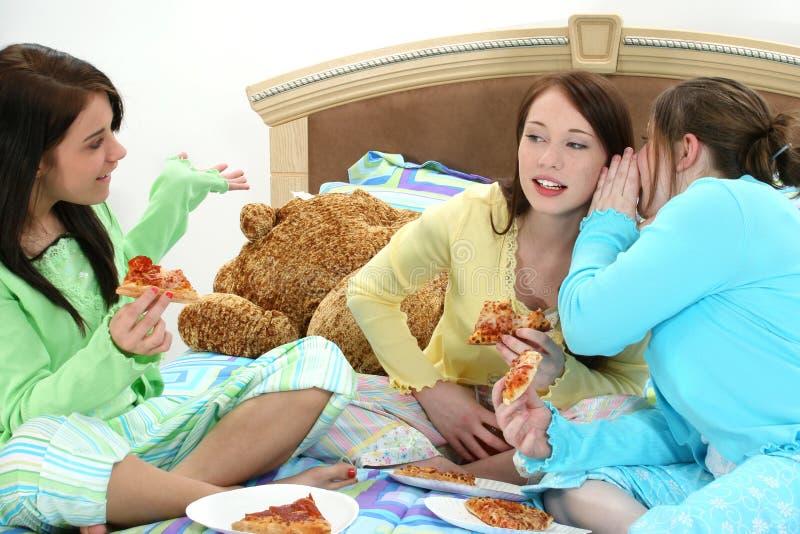 deltagarepizzaslummer royaltyfria bilder