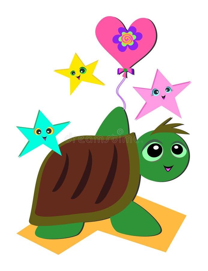 deltagaresköldpadda stock illustrationer