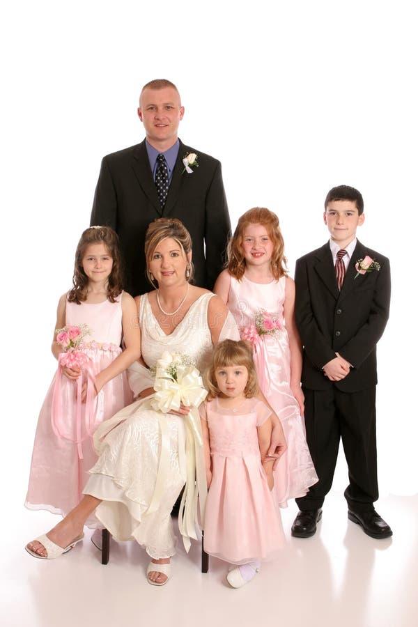 deltagareståendebröllop royaltyfria foton